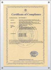 internation certificate for solar controller